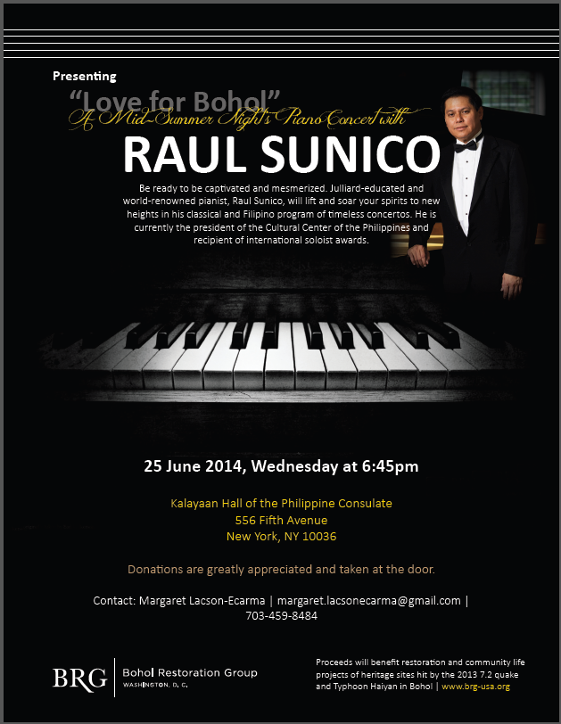 Love for Bohol Piano Concert with Raul Sunico